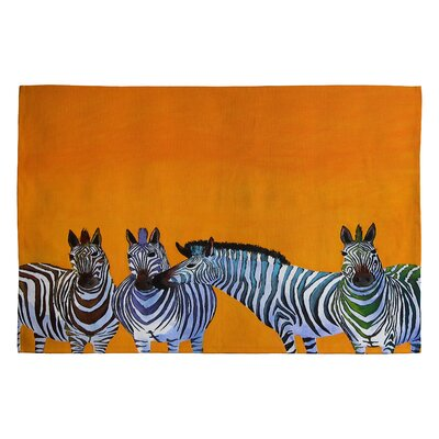 Clara Nilles Candy Stripe Zebras Novelty Area Rug Rug Size: 2 x 3