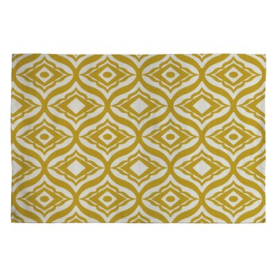 Heather Dutton Yellow Geometric Area Rug Rug Size: 2 x 3
