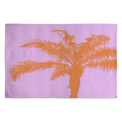 Deb Haugen Orange Palm Novelty Rug Rug Size: 2 x 3