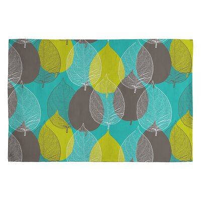 Aimee St Hill Big Leaves Area Rug Rug Size: 2' x 3'