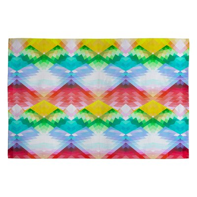 Deniz Ercelebi Crystal Rainbow Rug Rug Size: 2 x 3