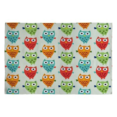 Andi Bird Owl Fun Kids Rug Rug Size: 2 x 3