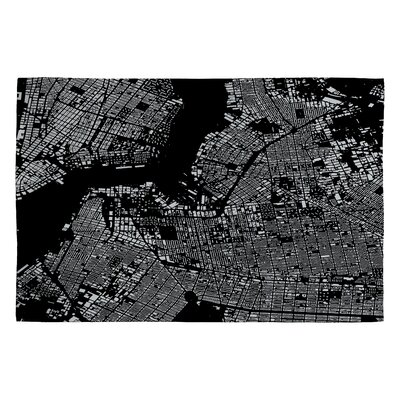 Cityfabric Inc Black Brooklyn Novelty Rug Rug Size: 2 x 3