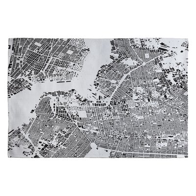 Cityfabric Inc White Brooklyn Novelty Rug Rug Size: 2 x 3