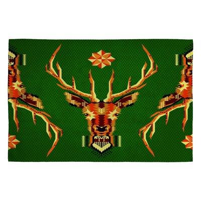 Chobopop Geometric Deer Novelty Rug Rug Size: 2 x 3