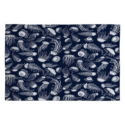 Jennifer Denty Jellyfish Novelty Rug Rug Size: 2 x 3