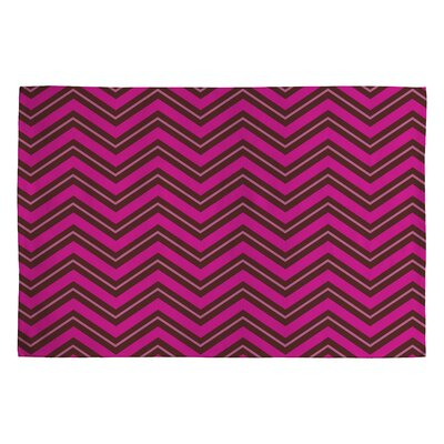 Chocolate Chevron Rug Rug Size: 2 x 3