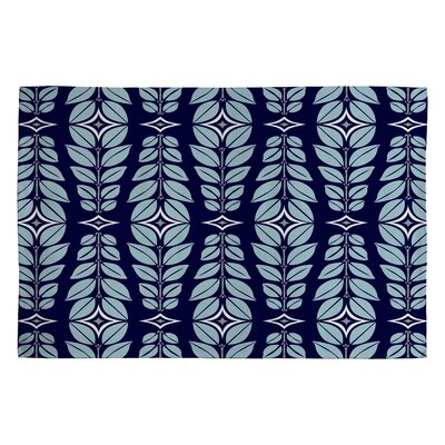 Heather Dutton Cortlan Navy Yard Blue Floral Area Rug Rug Size: 2 x 3