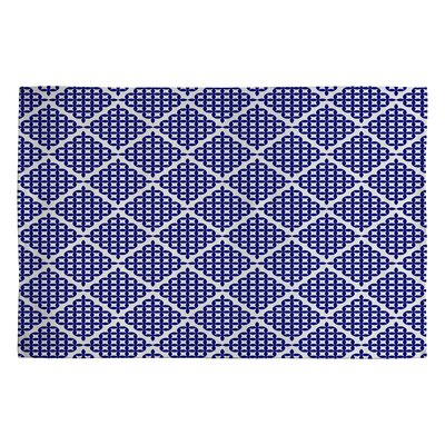 Holli Zollinger Nautical Knots Blue Geometric Area Rug Rug Size: 2 x 3
