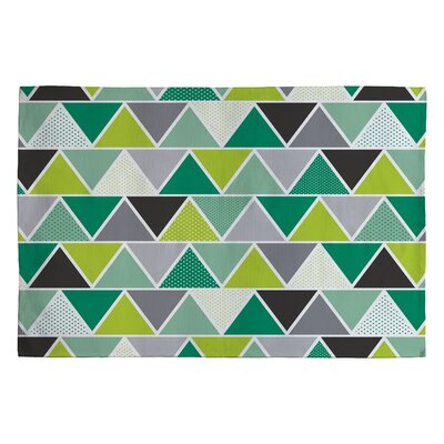 Heather Dutton Emerald Triangulum Green Geometric Area Rug Rug Size: 2 x 3