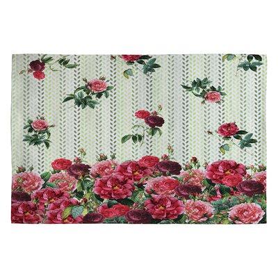 Belle13 Vintage Rose Area Rug Rug Size: 2' x 3'