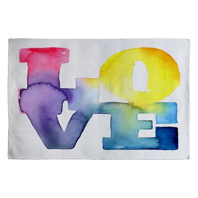 CMYKaren Love 4 Novelty Rug Rug Size: 2 x 3