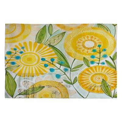 Cori Dantini Sun Burst Flowers Novelty Rug Rug Size: 2 x 3