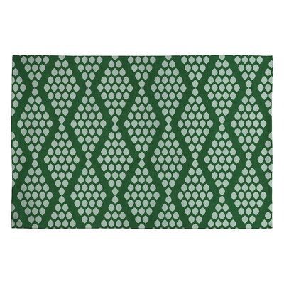 Holli Zollinger Beaded Triangle Green Geometric Area Rug Rug Size: 2 x 3