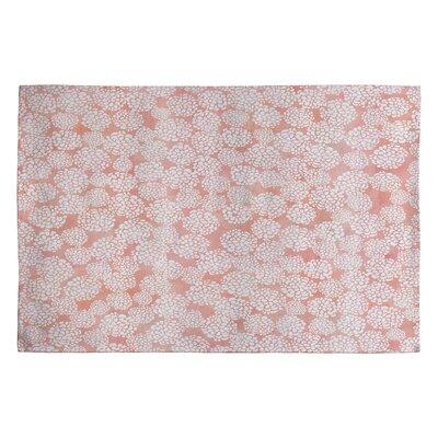 Joy Laforme Dahlias Pink Area Rug Rug Size: 2 x 3