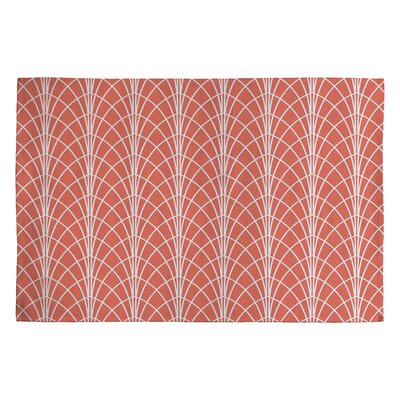 Heather Dutton Arcada Persimmon Orange Geometric Area Rug Rug Size: 2 x 3