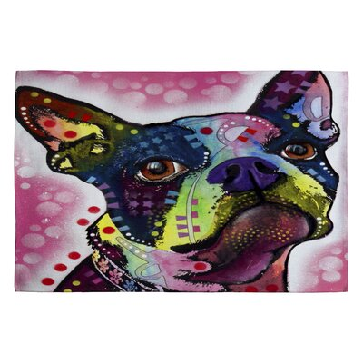Dean Russo Boston Terrier Novelty Rug Rug Size: 2 x 3
