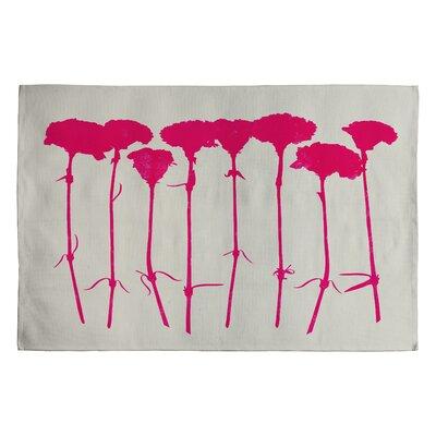 Garima Dhawan Pink Carnations Novelty Rug Rug Size: 2 x 3