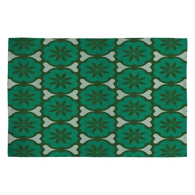 Holli Zollinger Dutch Pop Green Area Rug Rug Size: 2 x 3