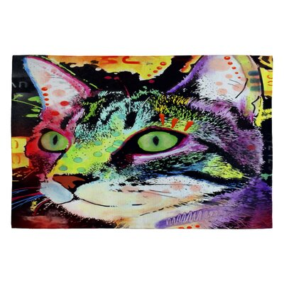 Dean Russo Curiosity Cat Novelty Rug Rug Size: 2 x 3