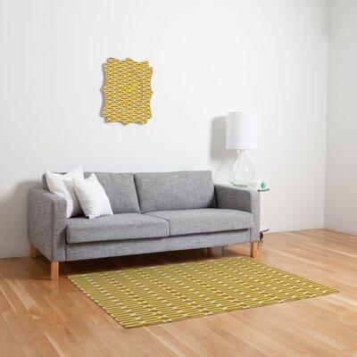 Holli Zollinger Kunda Spiral Yellow Geometric Area Rug Rug Size: 2 x 3