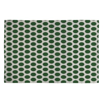 Holli Zollinger Pincushion Dot Green Geometric Area Rug Rug Size: 2 x 3