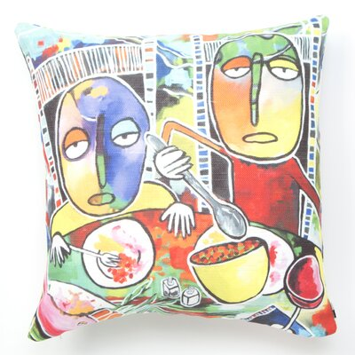 Robin Faye Gates I Should Give Relish a Try Throw Pillow Size: 20 x 20