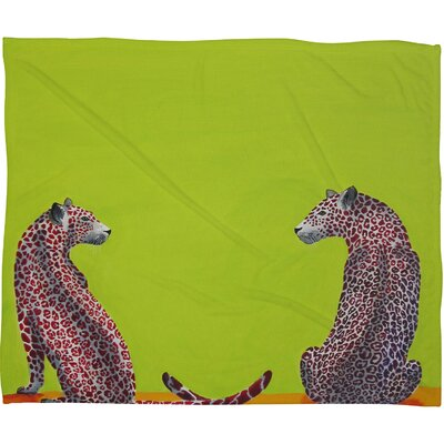 Clara Nilles Leopard Lovers Throw Blanket Size: Small