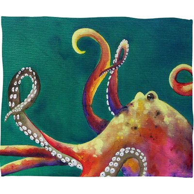 Clara Nilles Mardi Gras Octopus Throw Blanket Size: Large