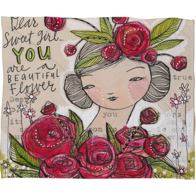 Cori Dantini Dear Sweet Girl Fleece Throw Blanket Size: Small