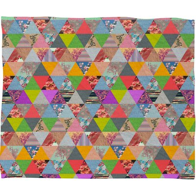 Bianca Green Lost in Pyramid Throw Blanket Size: Small