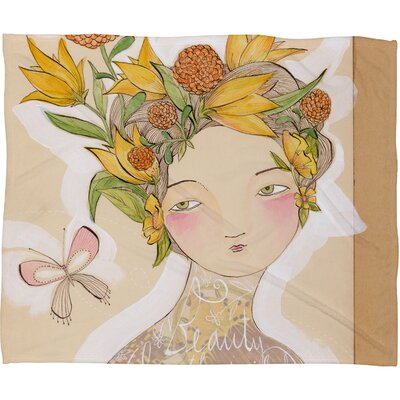 Cori Dantini Beauty On The Inside Fleece Throw Blanket Size: Large