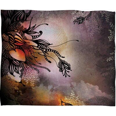 Iveta Abolina Purple Rain Throw Blanket Size: Medium