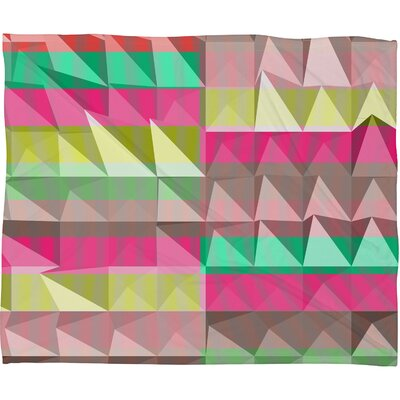 Jacqueline Maldonado Pyramid Scheme Throw Blanket Size: Large