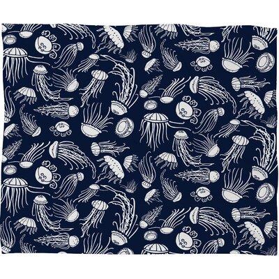 Jennifer Denty Jellyfish Throw Blanket Size: Medium