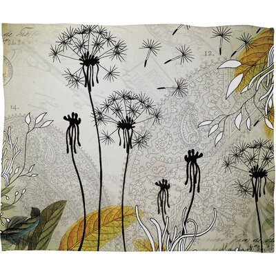 Iveta Abolina Little Dandelion Throw Blanket Size: Large