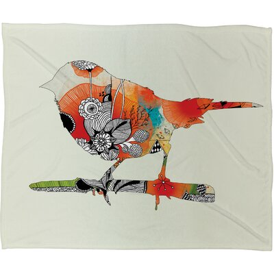 Iveta Abolina Little Bird Throw Blanket Size: Large