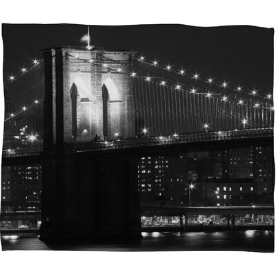 Leonidas Oxby Brooklyn Bridge 125 Throw Blanket Size: Large