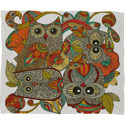 Valentina Ramos 4 Owls Throw Blanket Size: Large