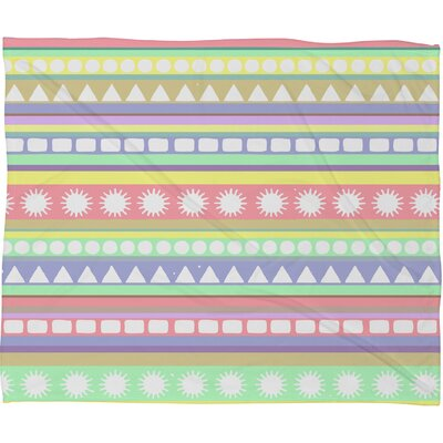 Romi Vega Pastel Pattern Throw Blanket Size: Large