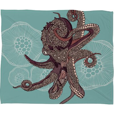 Octopus Bloom Throw Blanket Size: Large