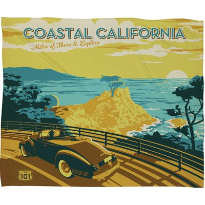 Anderson Design Group Coastal California Throw Blanket Size: Large