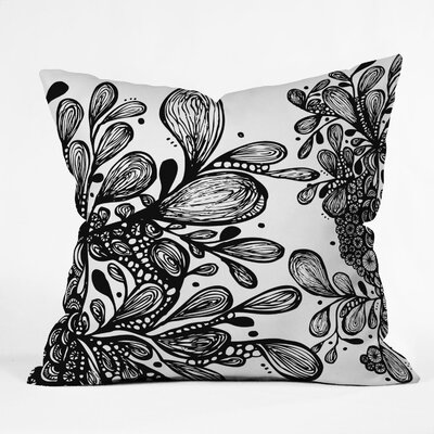 Julia Da Rocha Wild Leaves Throw Pillow Size: Small