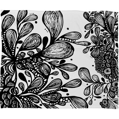 Julia Da Rocha Wild Leaves Throw Blanket Size: Large