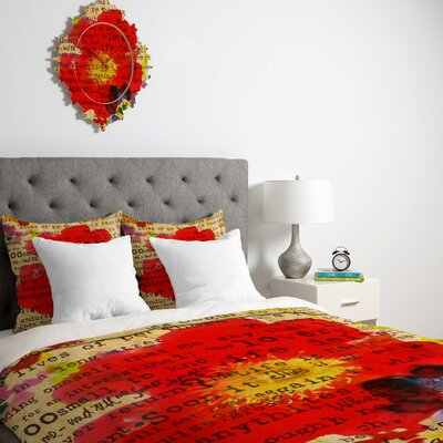 Irena Orlov Poppy Poetry 2 Duvet Cover Collection