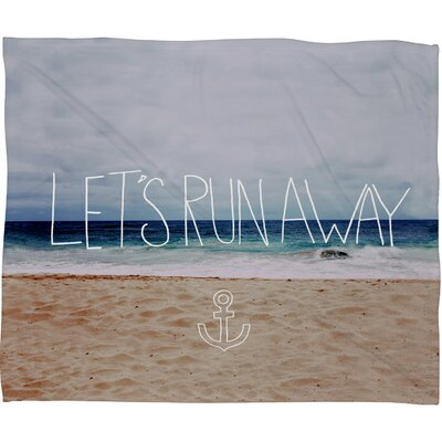 Leah Flores Lets Run Away III Throw Blanket Size: Small