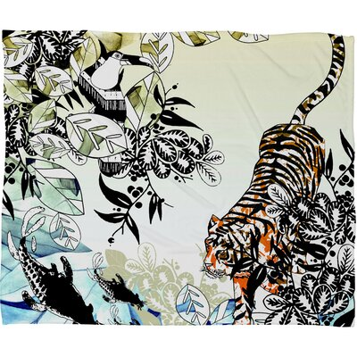 Aimee St Hill Tiger Tiger Throw Blanket Size: Medium