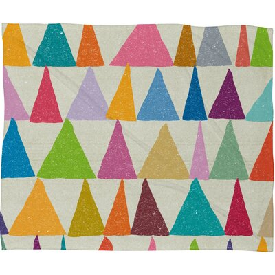 Nick Nelson Analogous Shapes in Bloom Fleece Throw Blanket Size: 60 H x 50 W
