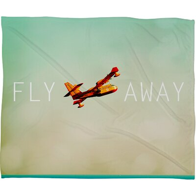 Happee Monkee Fly Away Throw Blanket Size: Large