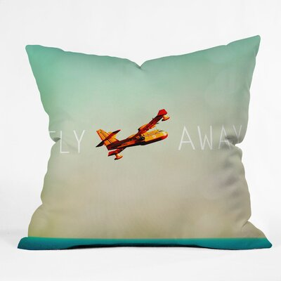 Happee Monkee Fly Away Throw Pillow Size: Large